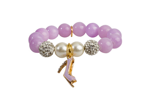 Heart Me Accessories Wisteria Bracelet Purple Shoe Charm