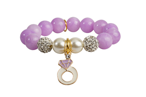 Heart Me Accessories Wisteria Bracelet Purple Ring Charm