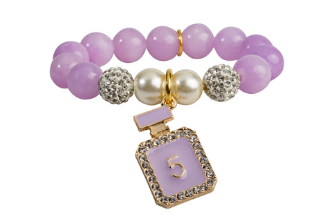 Heart Me Accessories Wisteria Bracelet Purple Perfume Charm