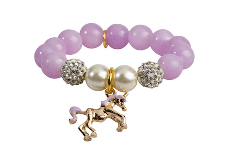 Heart Me Accessories Wisteria Bracelet Purple Unicorn Charm