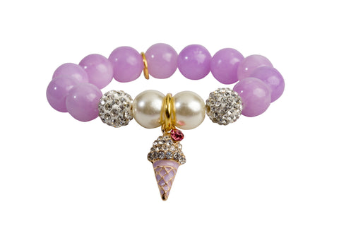 Heart Me Accessories Wisteria Bracelet Purple Ice Cream Charm