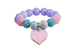 Heart Me Accessories Malibu Sunset Bracelet Pink Heart Charm