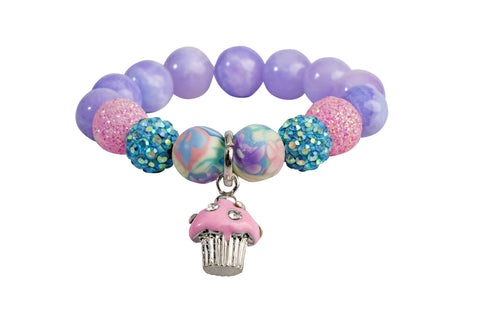 Heart Me Accessories Malibu Sunset Bracelet Pink Cupcake Charm