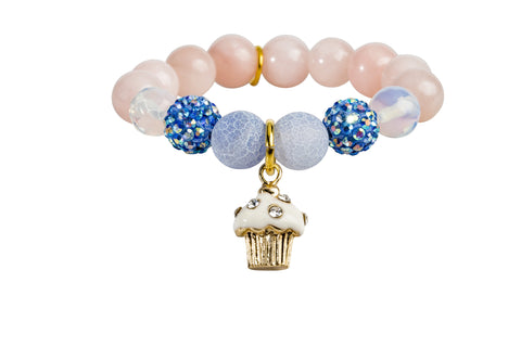 Heart Me Accessories Hampton Bays Bracelet White Cupcake Charm