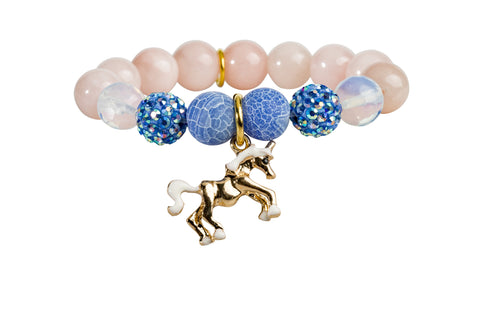 Heart Me Accessories Hampton Bays Bracelet White Unicorn Charm