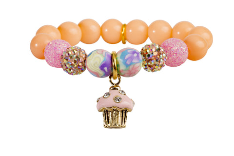Heart Me Accessories Palm Beach Bracelet Pink Cupcake Charm