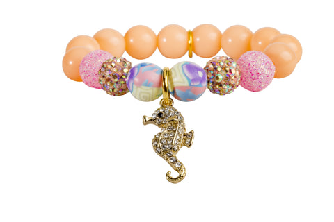Heart Me Accessories Palm Beach Bracelet Rhinestone Seahorse Charm