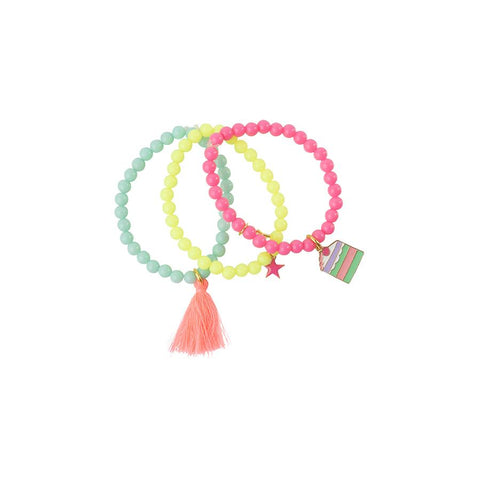 Heart Me Accessories Sets of 3 Cake Charm Bracelets