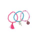 Heart Me Accessories Sets of 3 Donut and Lollipop Charm Bracelets