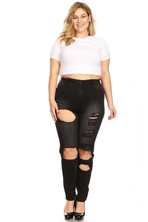 Ashy Black High Rise Skinny Jeans- Your Style Clothing