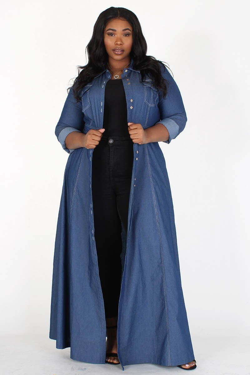 Any Occasion Denim Maxi Dress- Your Style Clothing