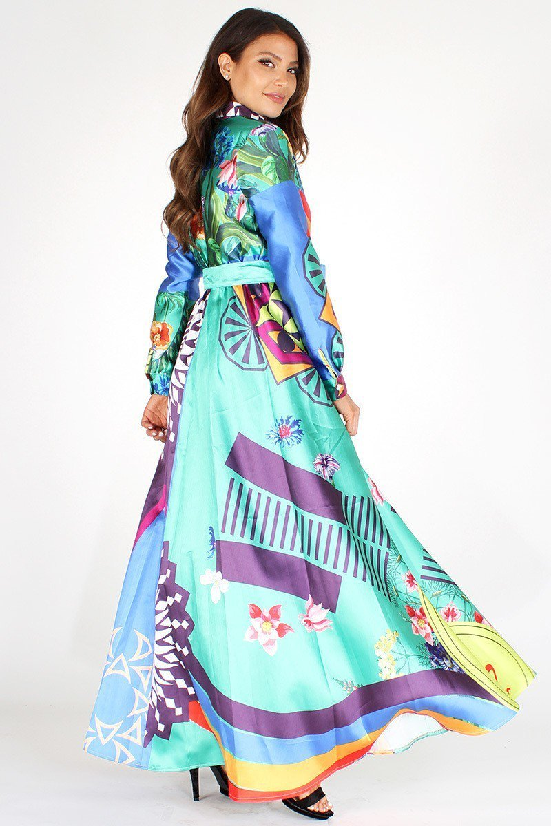 Long Colorful Full Length Maxi Dress