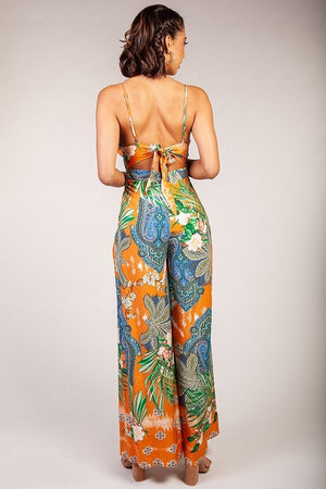 Summertime Vibes Jumpsuit Paisley Print Long Pants- Your Style Clothing