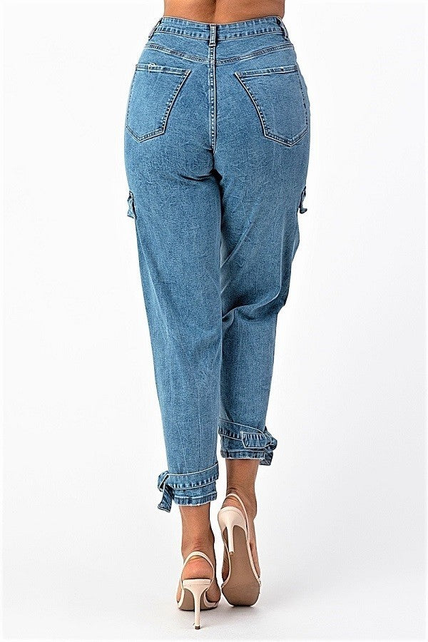 Flirty High Rise Paper bag Jeans- Your Style Clothing