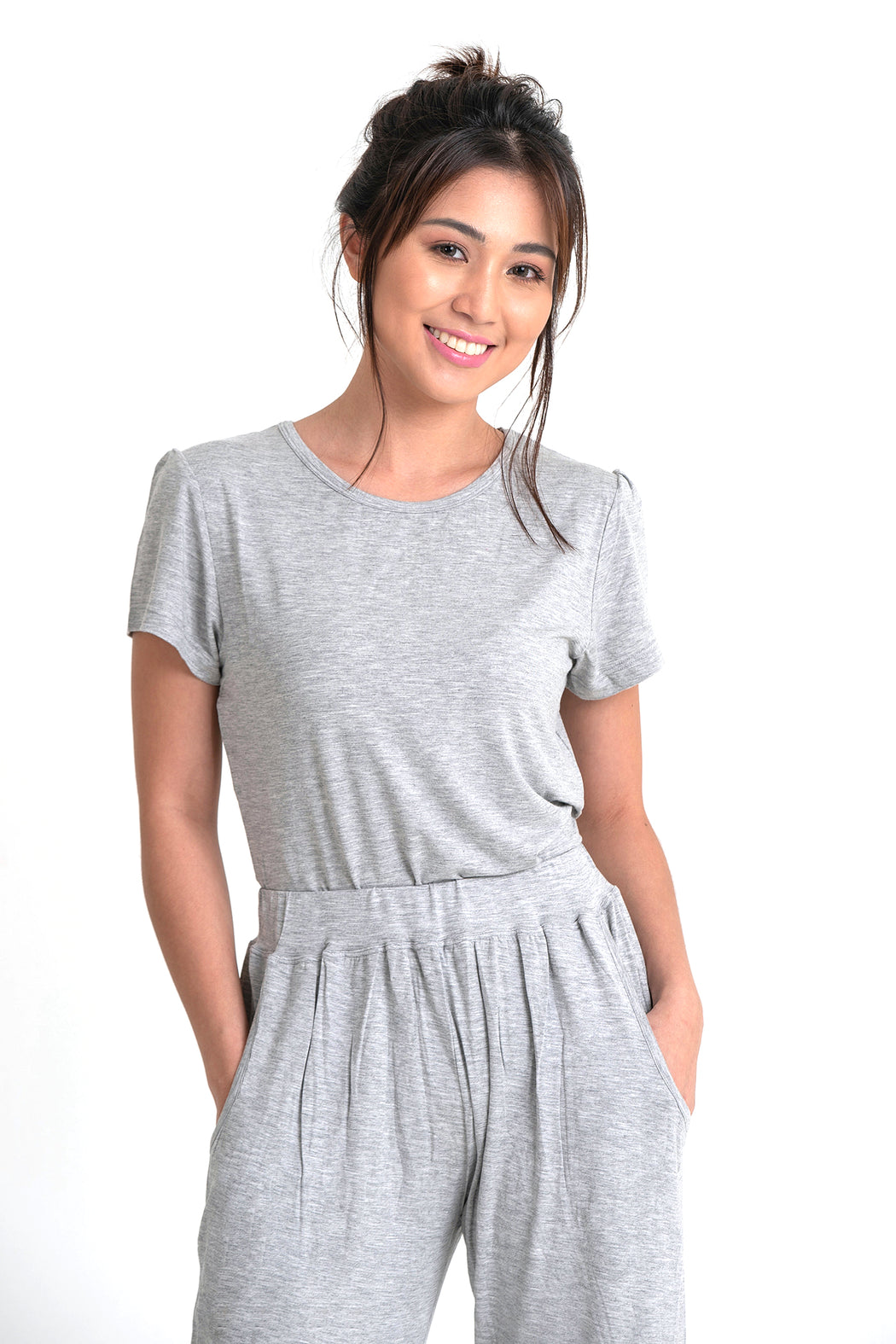 Bamboo Lounge Shirt - Gray