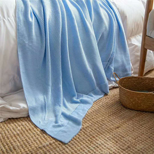 Bamboo Knitted Throw Blanket
