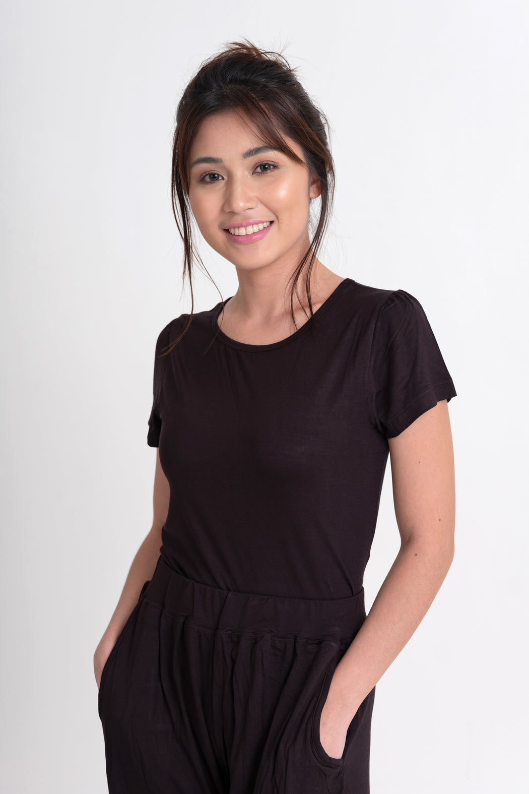 Bamboo Lounge Shirt - Black