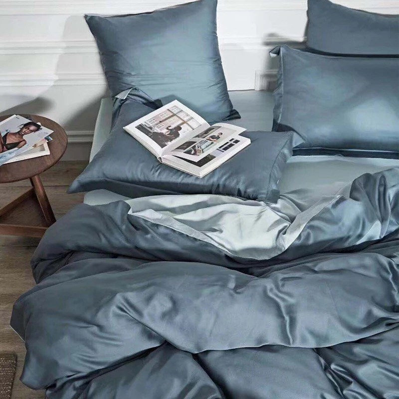 Earth Friendly Bamboo Duvet Cover - Providence Blue