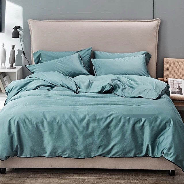Earth Friendly Bamboo Duvet Cover - Ocean Green