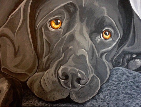 "Custom Pet Portrait 24"" x 36"""