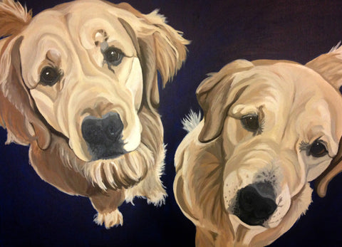 "Two Pet Custom Portrait 16"" x 20"""