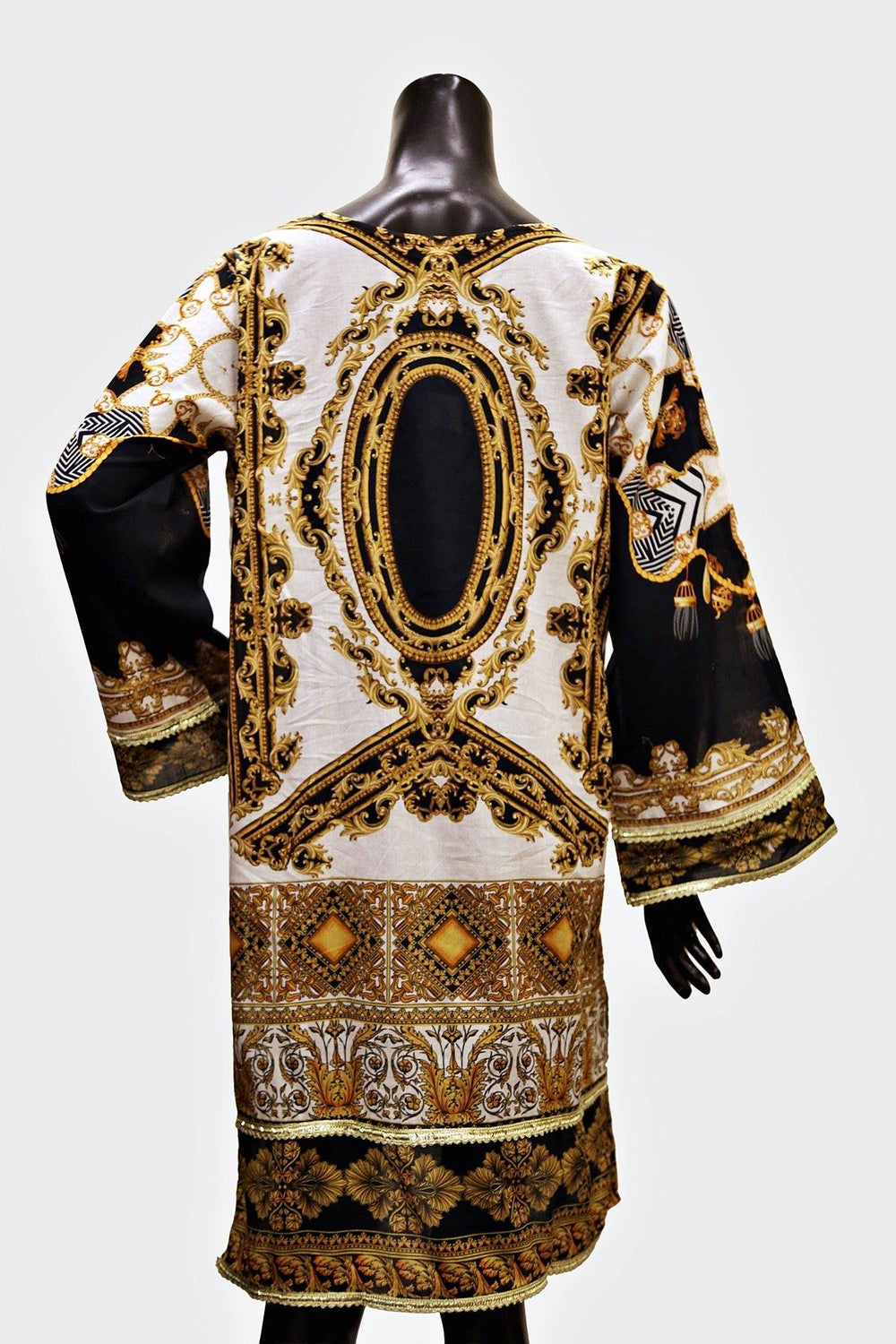 Gold Canvas Digital Print Kurti