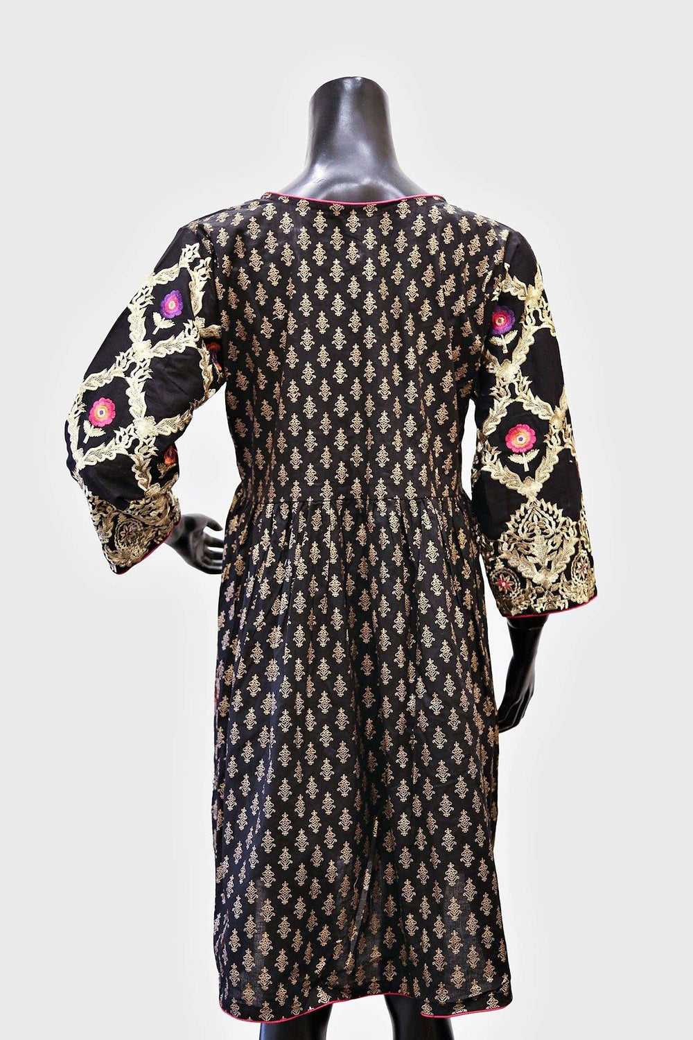 Floral Embroidered Swing Kurti