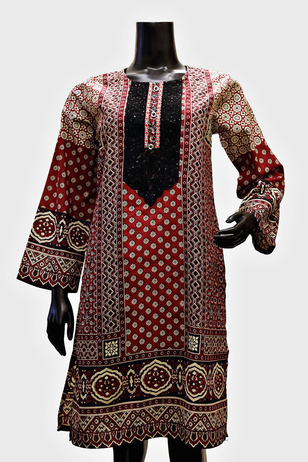 New 2020 Embroidered Digital Print Kurti