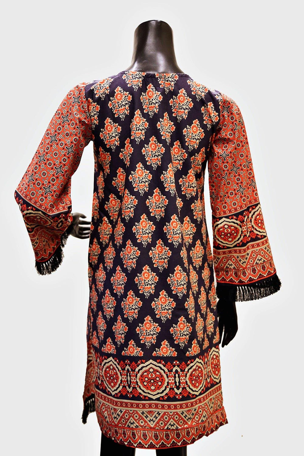 Full Embroidered Neck Digital Print Kurti
