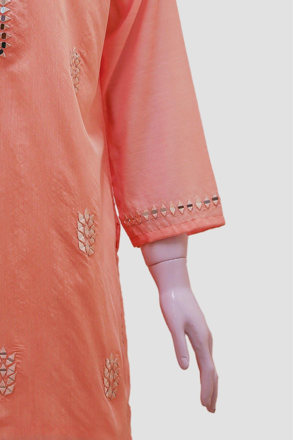 Mirror Embroidery Kurti - Pink - Brandsea UK
