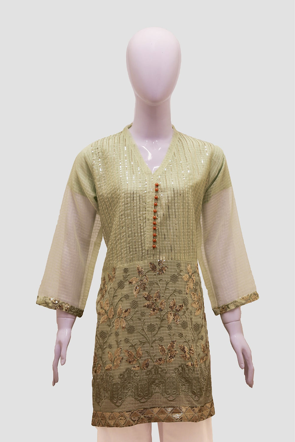 Sheath Sleeves Anarkali Swing Kurti