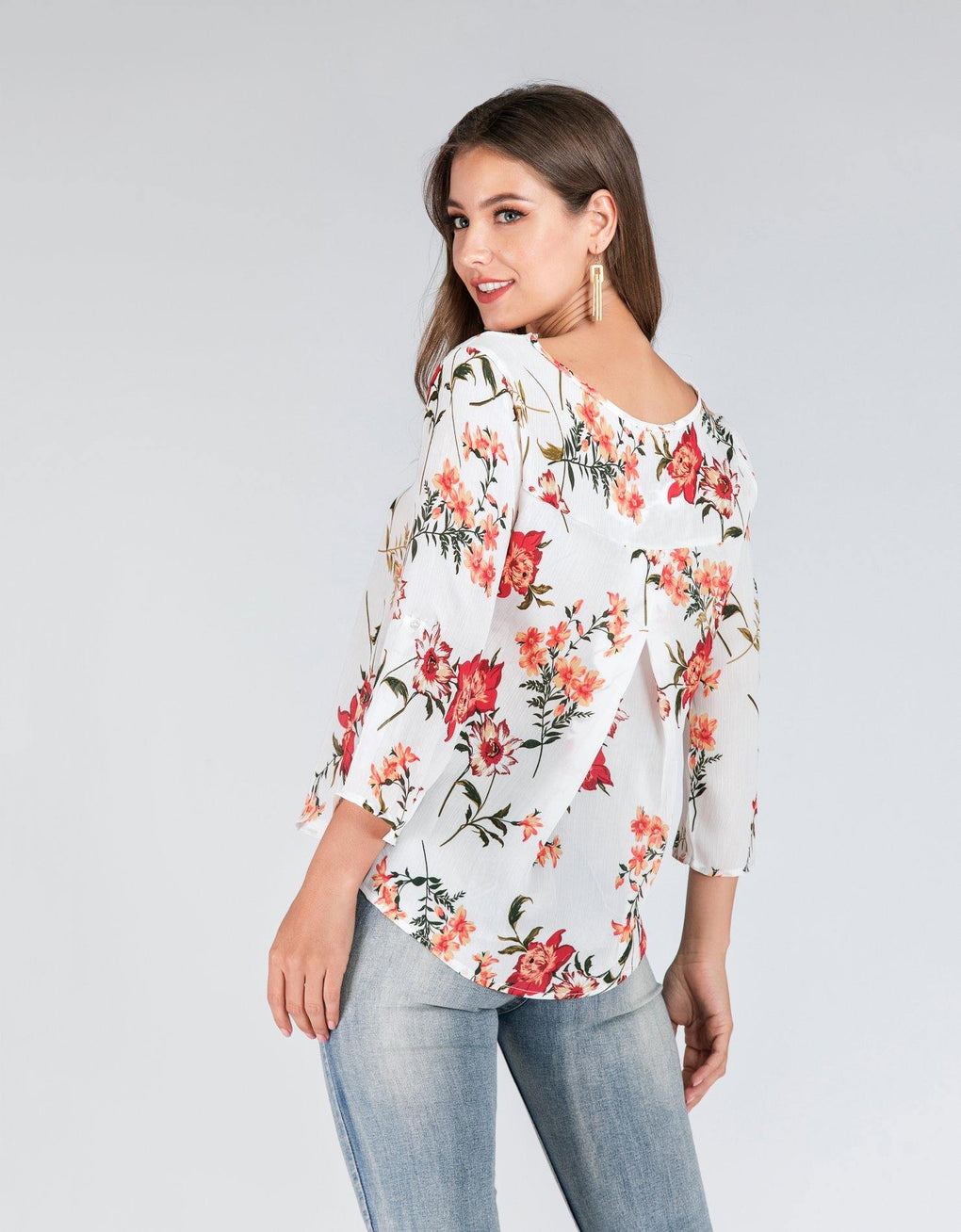 Floral Mix Pop Over Top