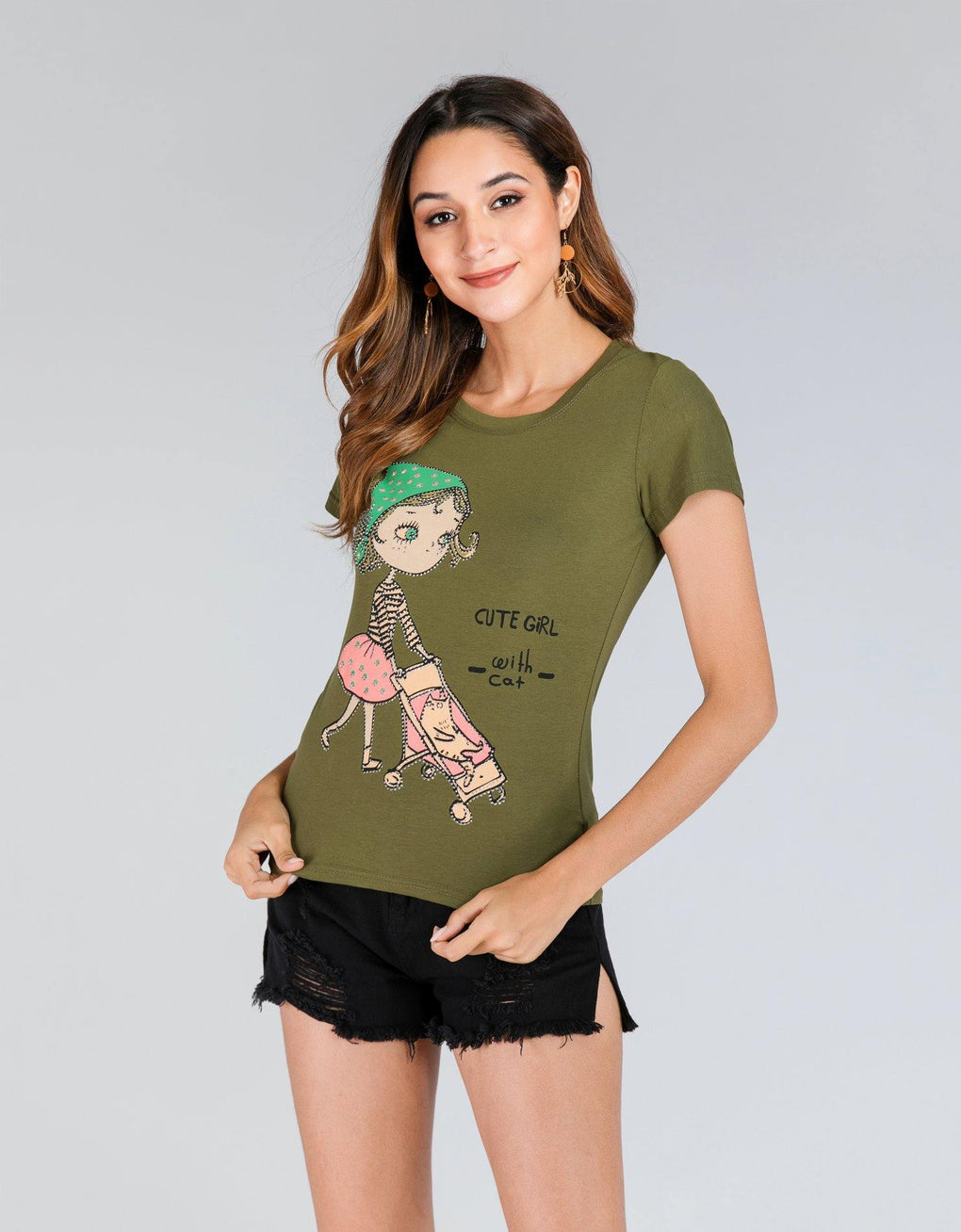 Girl with Cat Tee