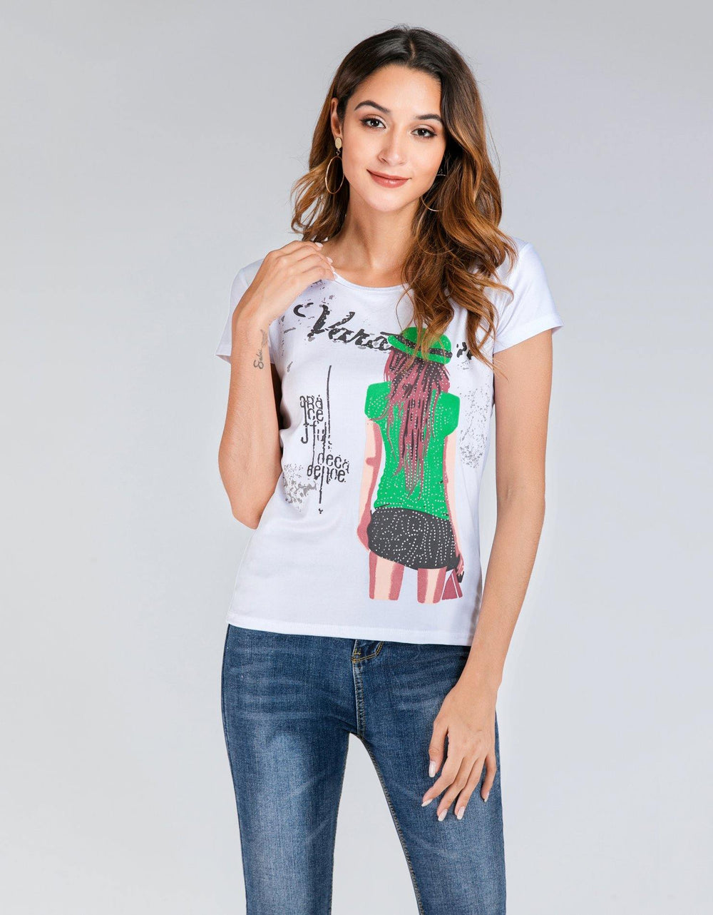 Girl In Green Tee - Brandsea UK