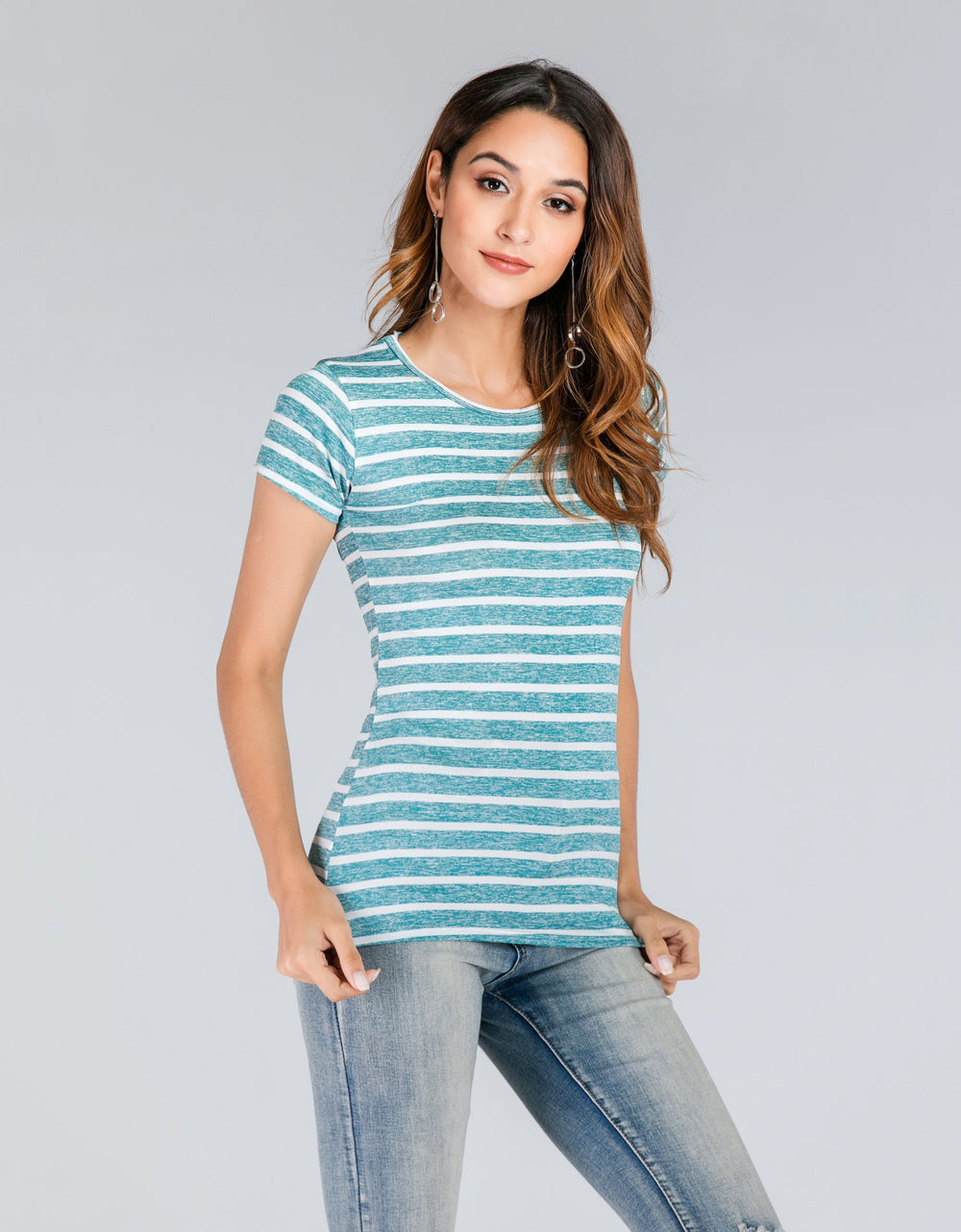 Stripe Short Sleeves T-Shirt