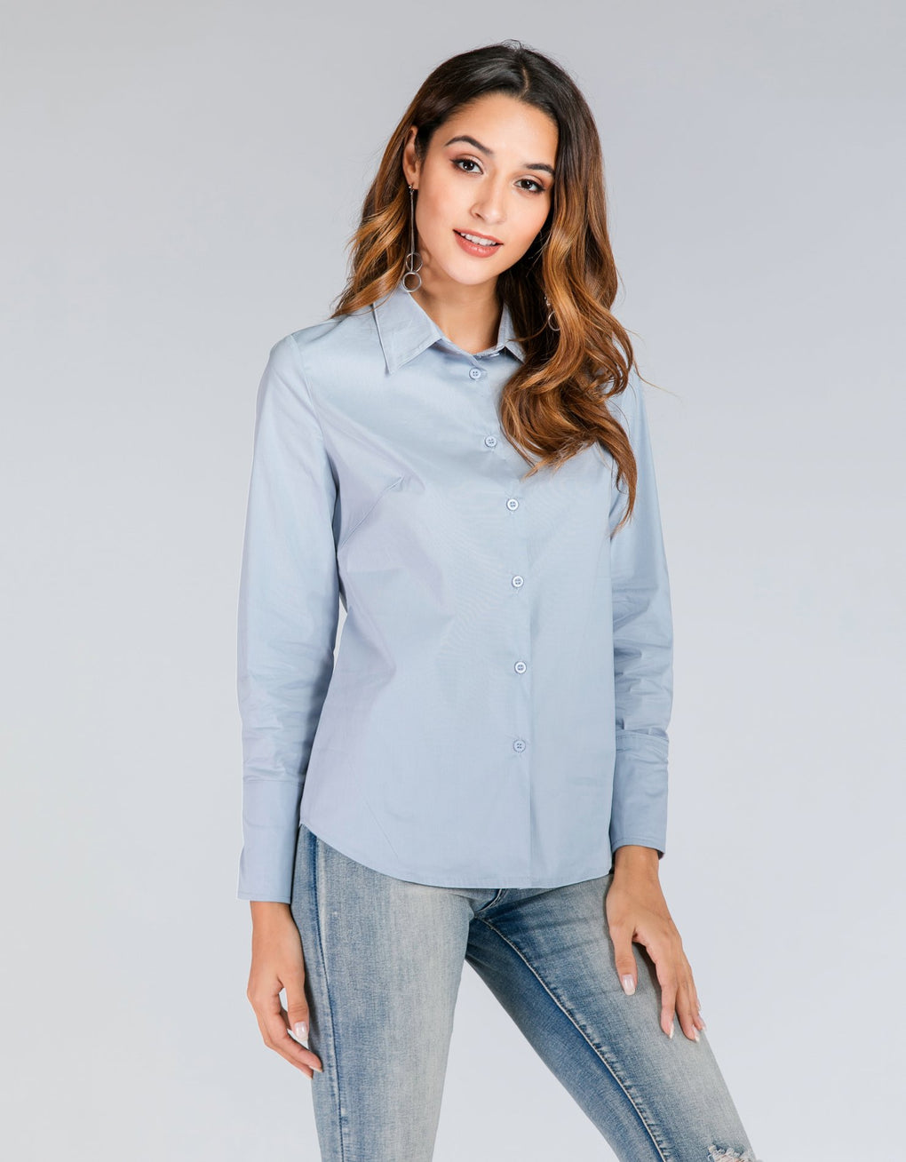 Long Sleeve Collared Shirt