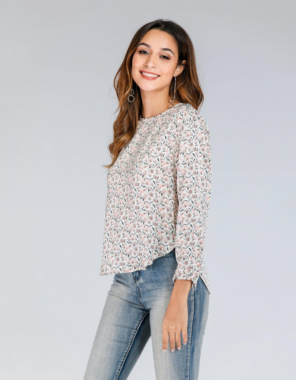 Floral Boxy Popover Top