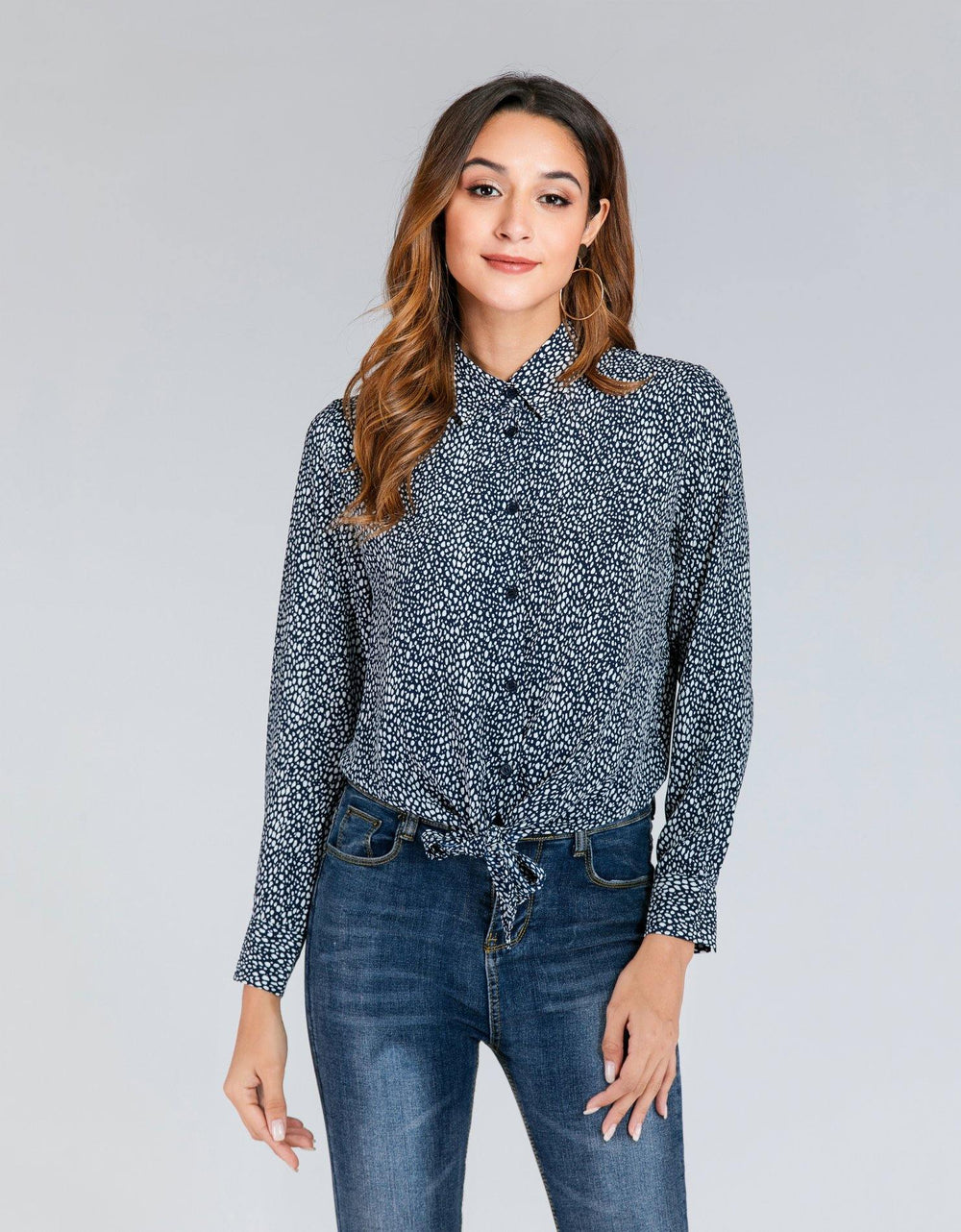 Casual Surplice Shirt