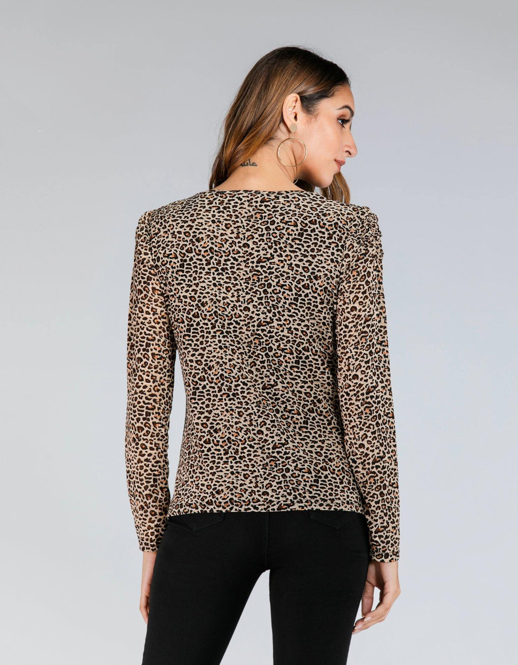 Cheetah Slim & Stretch Top