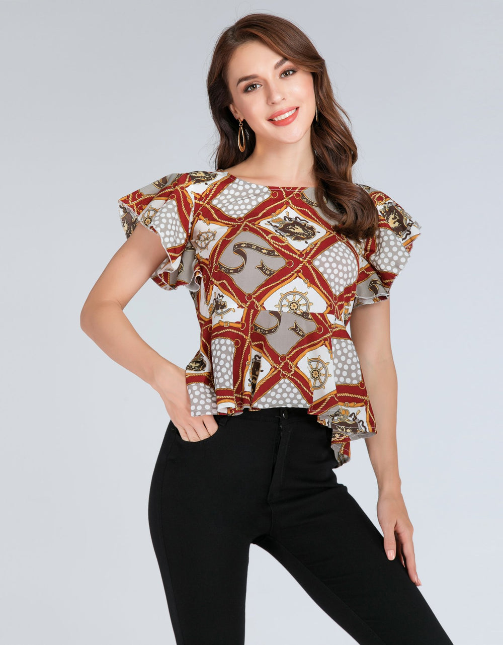 Patches Print Top