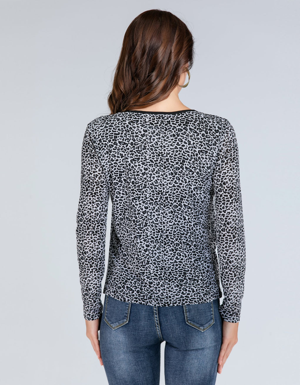 Scoop Neck Loose Cheetah Top