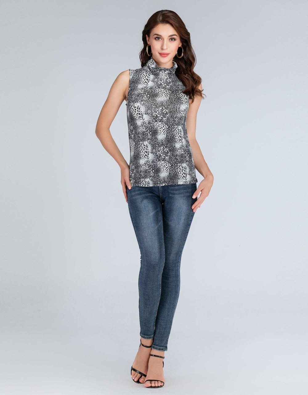 Sleeveless Cheetah Print Top