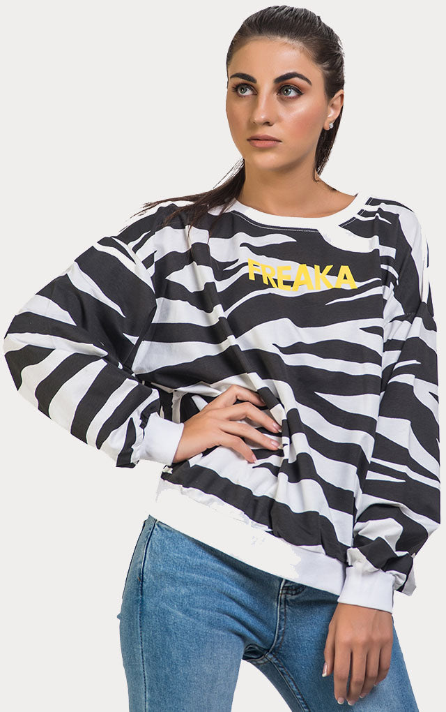 Zebra Pattern T-Shirt