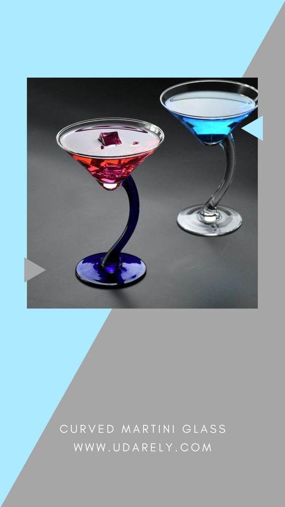 Curved Martini Glasses Udarely