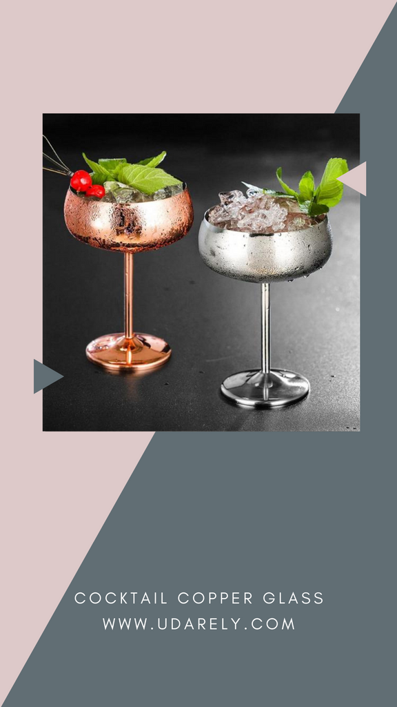 Cocktail Copper Glasses