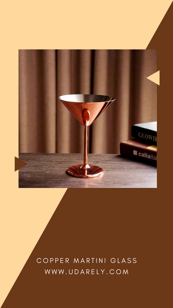 Martini Copper Glass