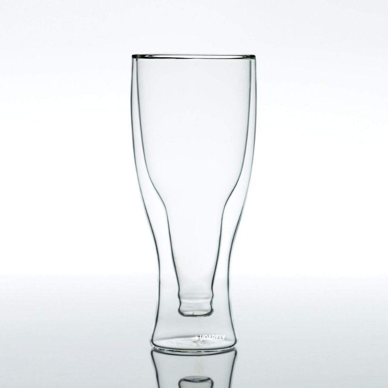 Ale Double-Walled Glasses - drink beer double - Udarely drinkware glassware barware cocktail mocktail coffee tea