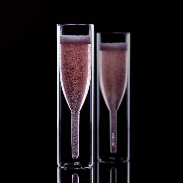 Aquamarine Luxury Flutes - drink champagne premium - Udarely drinkware glassware barware cocktail mocktail coffee tea