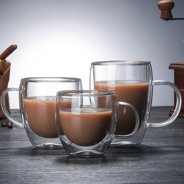 Biplex Double-Walled Mugs - coffee double - Udarely drinkware glassware barware cocktail mocktail coffee tea