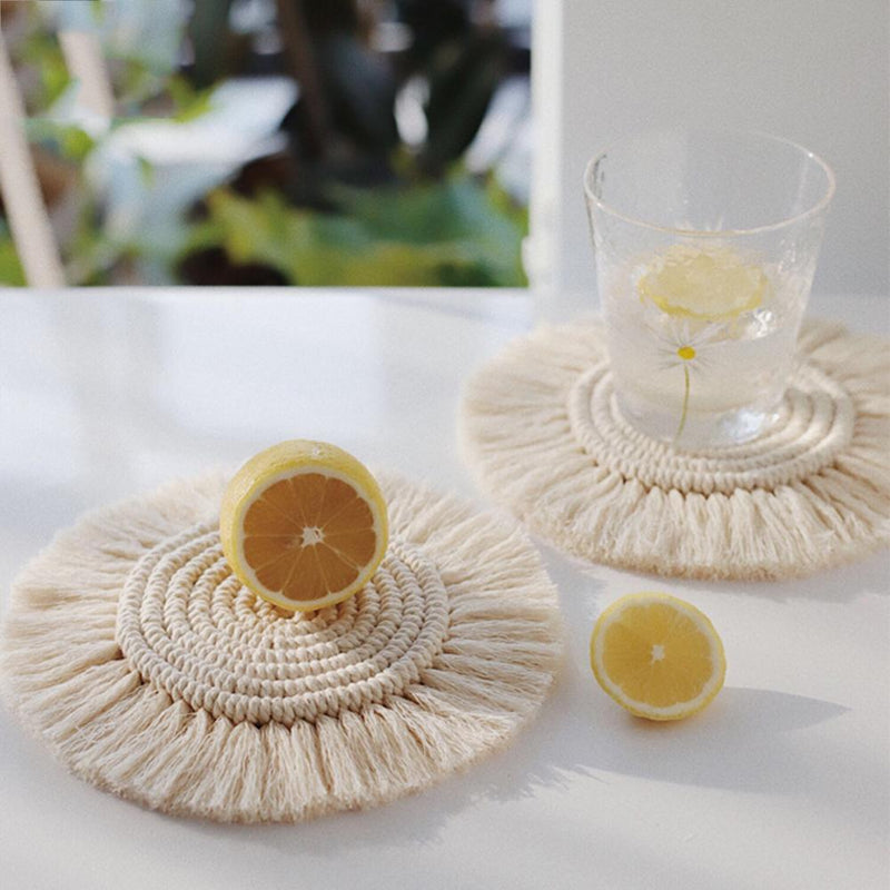 Blanche Coasters - Accessories coaster - Udarely drinkware glassware barware cocktail mocktail coffee tea